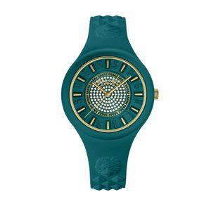 Versace Versus Diamond 39mm Green Case Watch
